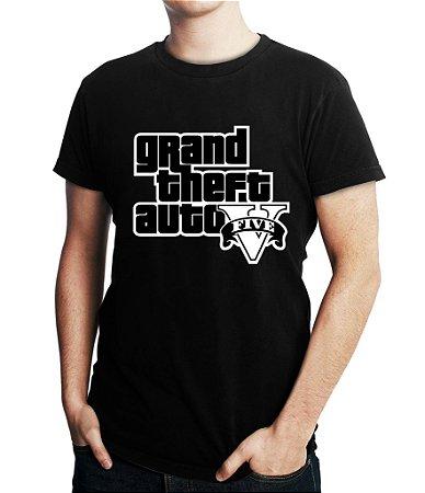 Camiseta Masculina Gta V Jogo Gta 5 Games - Personalizadas/ Customizadas/ Estampadas/ Camiseteria/ Estamparia/ Estampar/ Personalizar/ Customizar/ Criar/ Camisa Blusas Baratas Modelos Legais Loja Online