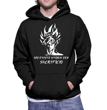 Moletom Masculino Dragon Ball Z Goku Desenho - Moletons Personalizados Blusa/ Casacos Baratos/ Blusão/ Jaqueta Canguru