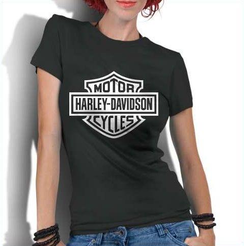 Camiseta Feminina Motor Harley Davidson - Personalizadas/ Customizadas/ Estampadas/ Camiseteria/ Estamparia/ Estampar/ Personalizar/ Customizar/ Criar/ Camisa Blusas Baratas Modelos Legais Loja Online