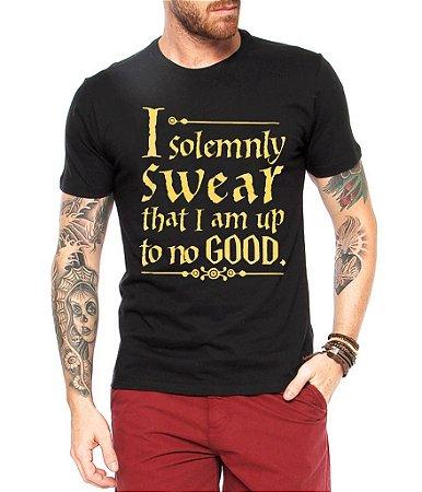 Camiseta Masculina Harry Potter I Swear- Personalizadas/ Customizadas/ Estampadas/ Camiseteria/ Estamparia/ Estampar/ Personalizar/ Customizar/ Criar/ Camisa Blusas Baratas Modelos Legais Loja Online