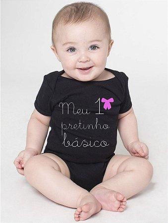 Body Bebê Fases Divertidas Pretinho Básico Meninas - Roupinhas Macacão Infantil Bodies Roupa Manga Curta Menino Menina Personalizados