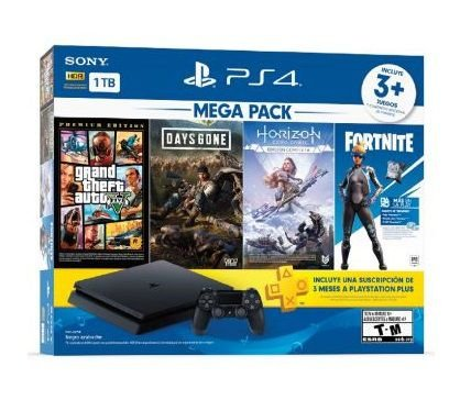 PS4 SLIM 1TB MEGA PACK V6  ORIGINAL SONY