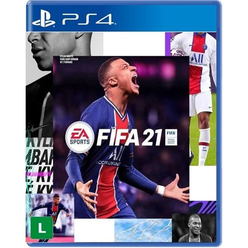 JOGO FIFA 21 PS4 MÍDIA FÍSICA PRÉ-VENDA 09/10/20