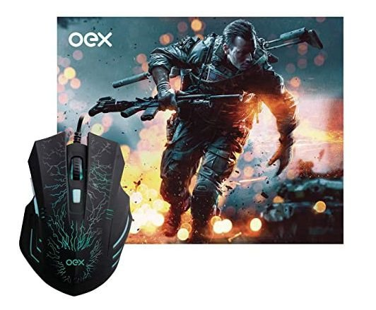 COMBO STAGE MOUSE + MOUSEPAD GAMER OEX