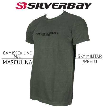 Camiseta Silverbay Live M/C - Sky Militar/Black