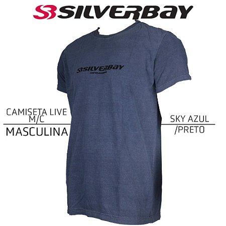 Camiseta Silverbay Live M/C - Sky Azul/Black