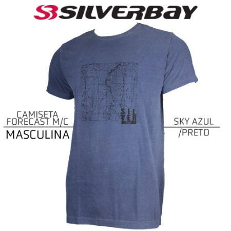 Camiseta Silverbay Forecast M/C - Sky Azul/Black