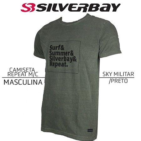Camiseta Silverbay Repeat M/C - Sky Militar/Black