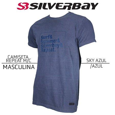 Camiseta Silverbay Repeat M/C - Sky Azul/Azul