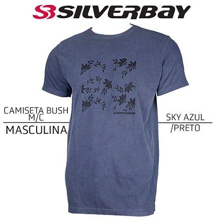 Camiseta Silverbay Bush M/C - Sky Azul/Black
