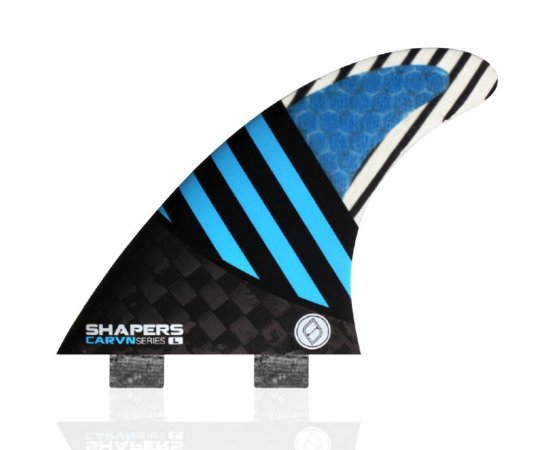 Jogo de Quilhas Shapers Dual Tab Carvn Carbon Hybrid Thruster - L