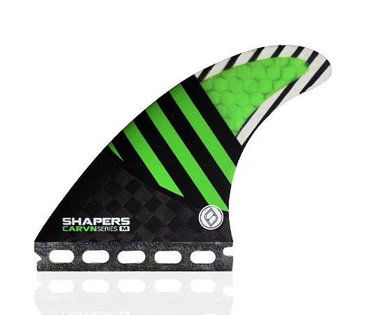 Jogo de Quilhas Shapers Single Tab Carvn Carbon Hybrid Thruster - M