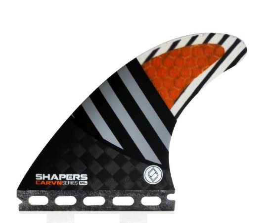 Jogo de Quilhas Shapers Single Tab Carvn Carbon Hybrid Thruster - ML