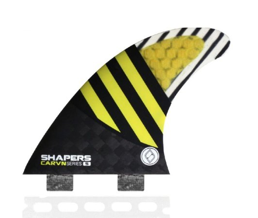 Jogo de Quilhas Shapers Dual Tab Carvn Carbon Hybrid Thruster - S