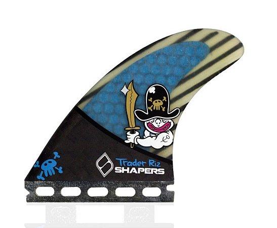 Jogo de Quilhas Shapers Single Tab Pro Riz Hybrid Thruster - M