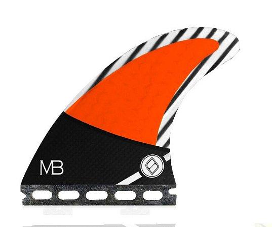 Jogo de Quilhas Shapers Single Tab Pro Matt Banting MB Carbon Hybrid - S