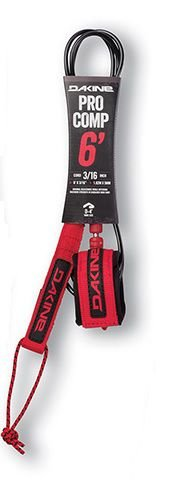 Leash Surf Dakine Pro Comp 6' x 3/16''  Racing Red