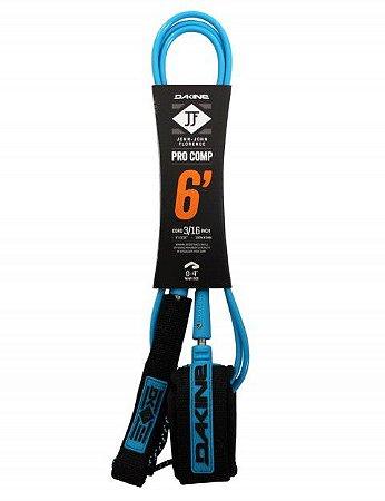 Leash Surf Dakine JOHN JOHN FLORENCE Pro Comp 6' x 3/16''  Blue