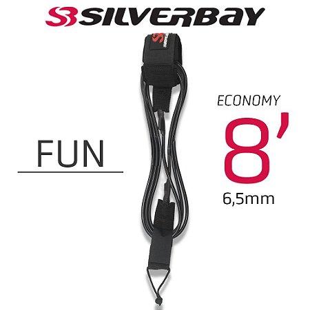 Leash Surf SILVERBAY ECONOMY FUN 8' 6,5mm - Preto