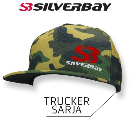 Boné Silverbay Trucker Sarja - Camo/Amarelo