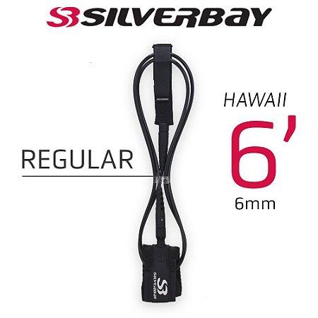 Leash Surf SILVERBAY HAWAII REGULAR 6' 6mm - Preto