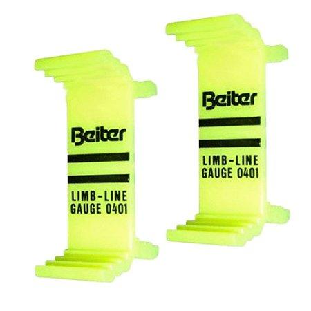 Alinhador de Lamina arco Recurvo Beiter / Beiter limbs line gauge