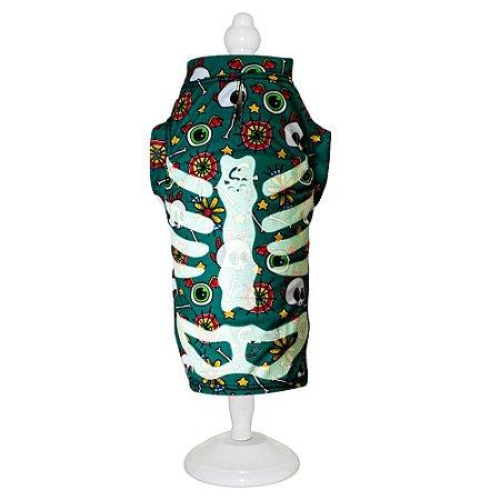 Ref 901 - Roupa Esqueleto Verde - Brilha no escuro!