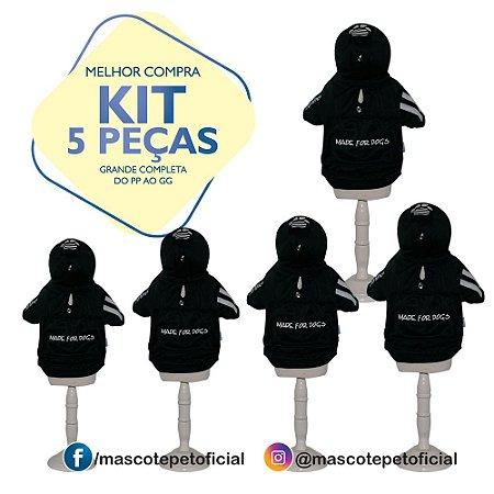 KIT 5 PEÇAS - REF. 399 Casaco Caninas