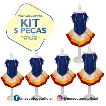 KIT 5 PEÇAS - REF. 373 Vestido Bianca