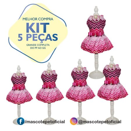 KIT 5 PEÇAS - Ref 518 - Vestido Viviam