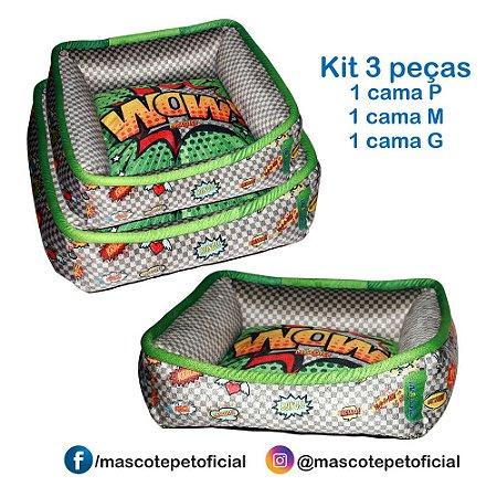 KIT 3 PEÇAS - 435 CAMA WOW  P -M -G