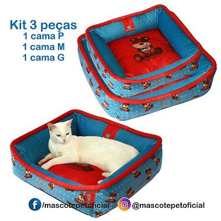 KIT 3 PEÇAS - 433 CAMA URSO  P -M -G