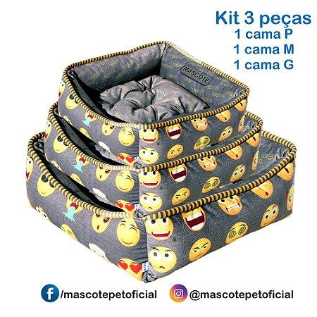 KIT 3 PEÇAS - 402 CAMA EMOTIONS  P -M -G