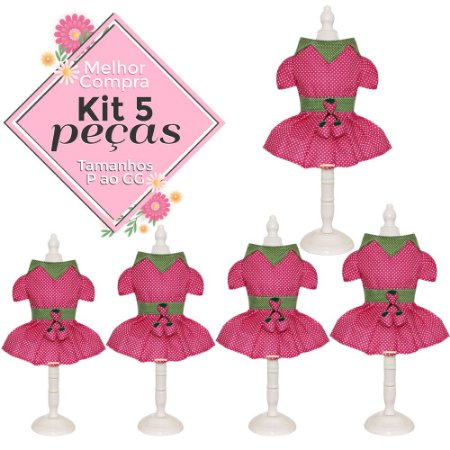KIT 5  PEÇAS Ref.808 Vestido Valeria