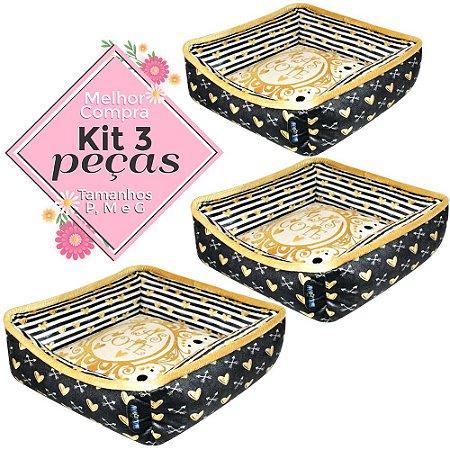 KIT 3 PEÇAS Ref.655 Cama Dora - P M G