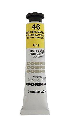 Tinta Oleo Corfix 20ml 46 Amarelo Brilhante Claro