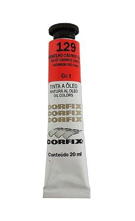 Tinta Oleo Corfix 20ml 129 Vermelho Cadmio