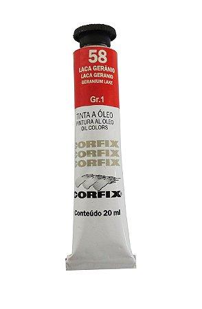 Tinta Oleo Corfix 20ml 58 Laca Gerânia