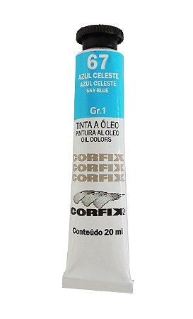Tinta Oleo Corfix 20ml 67 Azul celeste