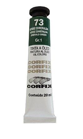 Tinta Oleo Corfix 20ml 73 Verde Esmeralda