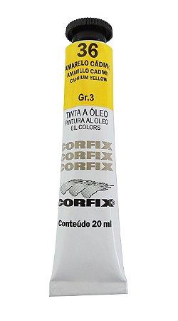 Tinta Oleo Corfix 20ml 36 Amarelo Cádmio Claro Grupo 3