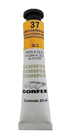 Tinta Oleo Corfix 20ml 37 Amarelo Cádmio Escuro Claro Grupo 3