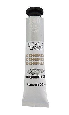 Tinta Oleo Corfix 20ml 140 Prata Metálico