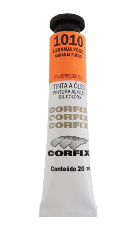 Tinta Oleo Corfix 20ml 1010 Laranja Fogo Fluorescente