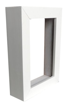 Moldura Para Painel Branca 0003 - Caixa Alta 60x70