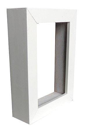 Moldura Para Painel Branca 0003 - Caixa Alta 20x40
