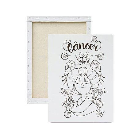 Tela para pintura infantil - Signo Câncer