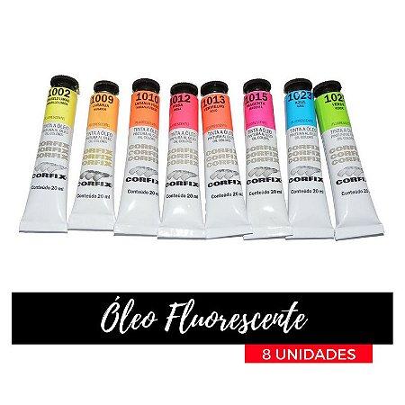 Tinta Óleo Fluorescente Corfix 20ml (8 unidades)