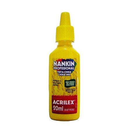 Tinta Nankin Acrilex 20 ml - 505 Amarelo Ouro