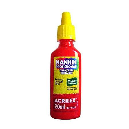 Tinta Nankin Acrilex 20 ml - 507 Vermelho Fogo